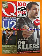 Q Magazine 248/2007 Kaiser Chief U2 Brandon Flowers Pet Shop Boys P Diddy  No cd