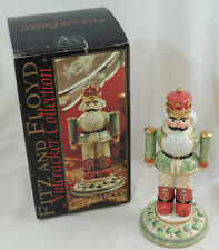 Fitz and Floyd Holly Leaf Nutcracker 2003 Small 19/384 TINY CHIP