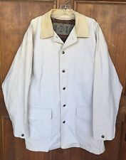 Pendleton Beige Jacket W/Corduroy Collar & Cuffs Removable Wool Liner Mens Sz XL