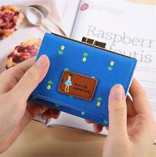 Women Leather Clutch Wallet Handbag Mini Card Coin Purse Photo Holder Bag Pouch