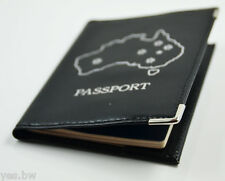 AUSTRALIA PASSPORT HOLDER TRAVEL WALLET LEATHER COVER CASE PROTECTOR ORGANIZER