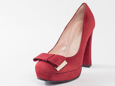 New ANGELO GIANNINI Red Suede Made in Italy pumps 39 US 9