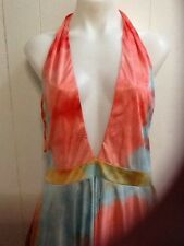 Lili Sexy Halter Dress, Tie Dyed,  Size 12, Multi Colored, NWT $39.00