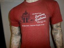 vtg 80's OLD WEST END FESTIVAL T SHIRT Historic Toledo Neighborhood 1984 15K Red