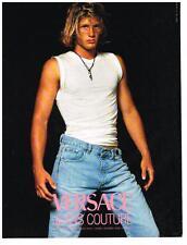 PUBLICITE ADVERTISING   1992    VERSACE JEANS  haute couture mondiale