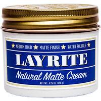 Layrite Natural Matte Cream 4.25 oz Pomade Hair Styling Wax Medium Hold