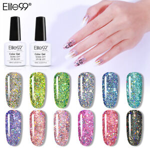 Elite99 Glitter Shooting Star Gel Nail Polish Top Base Lacquer Manicure UV LED