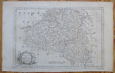 System of Geographie Map of Flandria Brabant Belgium by Rollos - 1774