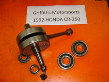92-01 93 94 95 HONDA CR250R CR250 CRANK SHAFT CRANKSHAFT ROD MAIN BEARINGS nice