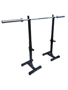 Adjustable Squat Rack with Multi-Position Safety Bar