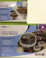 AquaScape 300 Watt pond Heater/De-icer & 2-Outlet Pond Air 2 Aeration Kit