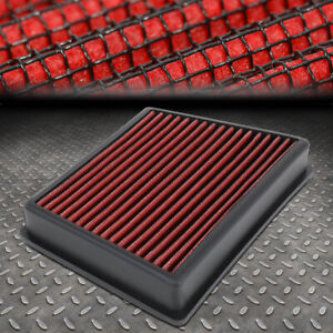FOR 18-20 FORD ECOSPORT REUSABLE&WASHABLE DROP-IN AIR FILTER INTAKE PANEL RED