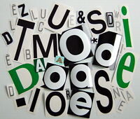 ONE LOT OF 40 AUTOADHESIVE GLOSSY VINYL LETTERS, IN.OR OUTDOOR USE, SCRAPBOOK +