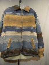 Villablanca Cloth Jacket with Sherpa Lining MI Italy Sz M Medium