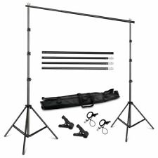 Photography Background Stand Paper Canvas Backdrops Support System Carrying Case