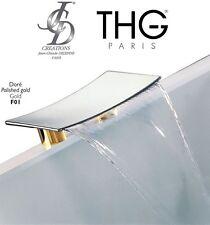 "THG JCD Luxury ""Espace"" G77-F01-00029NIA/B Waterfall Bath Spout 300mm GOLD NIB"