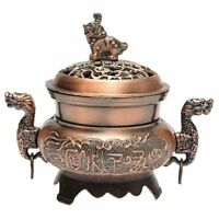 Buddhist Incense Burner Smoke Backflow Zinc alloy Censer Cone Holder, #1 Re K4Q2
