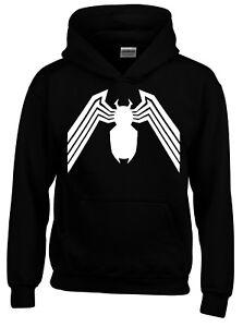 Venom Spiderman Superhero Black Mens Hoodie