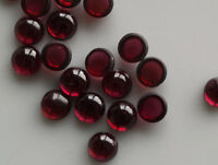 Wholesale Lot 6x6 mm Round Cabochon Natural Garnet Loose Calibrated Gemstone