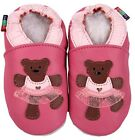 shoeszoo teddy bear pink 6-12m S soft sole leather baby shoes