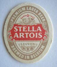 STELLA ARTOIS PREMIUM LAGER BEER BREWED IN BELGIUM COASTER