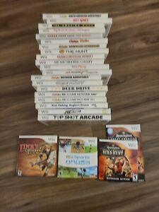 Nintendo Wii Games Lot Bundle 23 games CIB COMPLETE IN BOX POPULAR GAMES