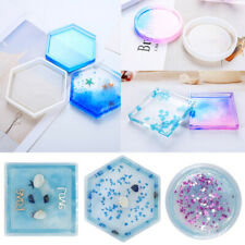 3pcs Mixed Silicone Mold Coaster Resin Casting Jewelry Making Mould Tool #USA