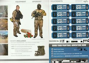 IPG Paintball vouchers(10 Per Booklet-2 available) (Valued @ $450) Exp 26/03/22