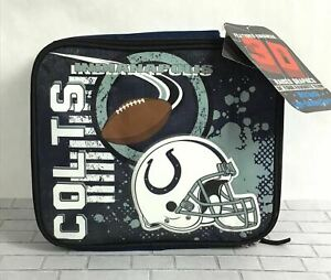 Indianapolis Colts NFL Accelerator 3D Graphics Soft Zip Glitter Lunch Box B28-9