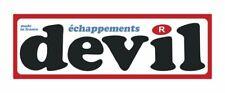 Sticker plastifié DEVIL échappements  - 14,5cm x 4,5cm