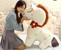 Fashion 90CM Large Horse Plush Soft Stuffed Animal Toy Doll Pillow Birthday Gift