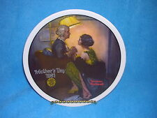 Norman Rockwell After the Party 1981 6th in Mothers Day Collection Knowles China