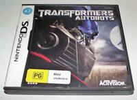 Transformers Autobots Nintendo DS 2DS 3DS Game *Complete*
