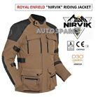 Royal Enfield NIRVIK All Season Riding Jacket Brown with Waterproof inner lining