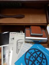 Polaroid sx-70 land camera Vintage With Case Flash And Guides