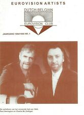 Eurovision Artists - Dutch Belgian Eurovision Fan Club Magazine 1994/95 Number 1