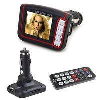 Wireless LCD Car Auto FM Transmitter MP3 MP4 Music Player USB MMC SD Remote