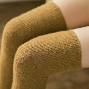 Chic Womens Over Knee Wool Cashmere Blend High Long Socks Thigh Skinny Stockings