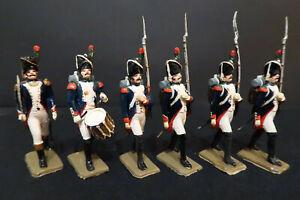 Lot de 6 Grenadiers à pied Empire Soldat Plastique 58mm Segom Historex #90