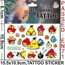 2x Juegos De Xbox ~ Tatuajes Temporales Angry Birds Chicos Bolsa Fiesta Relleno Loot Bolsas ☆