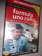 DVD FORMULA UNO 1980 COPPIA VINCENTE WILLIAMS JONES THE GRAND PRIX COLLECTION F1