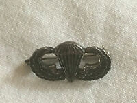 MINIATURE STERLING SILVER US AIR FORCE PARACHUTIST PARATROOPER WINGS BADGE