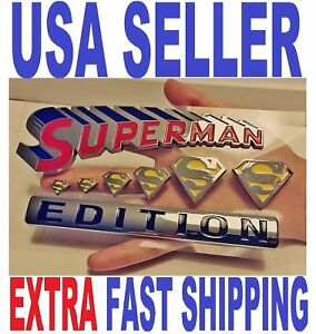 SUPERMAN Edition Emblem Hero DECAL Letters BADGE Side Fenders sign FIT ALL CARS