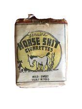 Vintage Genuine Horse Shit Cigarettes Horse Shit Cigarett Co Shitville City