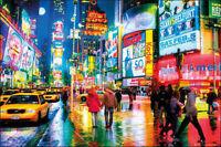NEW YORK - TIMES SQUARE POSTER - 24x36 LIGHTS COLORS NY ART PRINT 33834