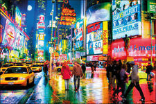 NEW YORK - TIMES SQUARE POSTER - 24x36 LIGHTS COLORS NY ART PRINT 33834