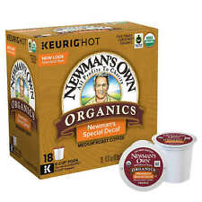 NEWMAN'S OWN ORGANICS SPECIAL DECAF COFFEE KEURIG (18 K-CUP) NEW IN RETAIL BOX!
