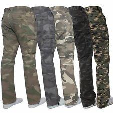 Kruze Designer Mens Cargo Combat Shorts Casual Camo Work Camouflage Half Pants