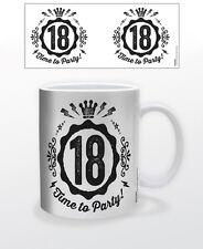 TIME TO PARTY-18 YEARS OLD 11 OZ COFFEE MUG BIRTHDAY DECOR CELEBRATION FUN CUP!