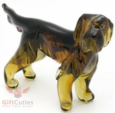 Art Blown Glass Figurine of the Otterhound dog